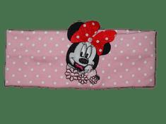 Minnie Dívčí světle růžová čelenka Minnie a puntíky.