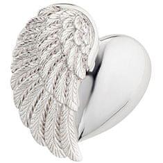 Engelsrufer Strieborný prívesok Srdce s anjelským krídlom ERP-HEARTWING striebro 925/1000