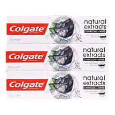 Colgate Aktív faszén Natura l s fogkrém Charcoal trióval 3 x 75 ml