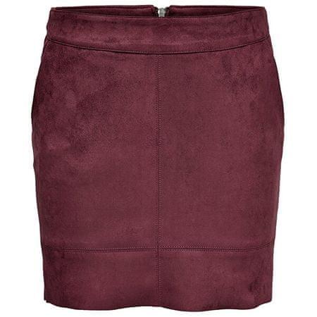 ONLY Damska spódnica ONLJULIE FAUXSUEDE BONDED SKIRT OTW NOOS Cordovan (rozmiar 36)
