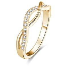Beneto Pozlacený stříbrný prsten s krystaly AGG192 stříbro 925/1000