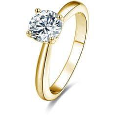 Beneto Pozlacený stříbrný prsten s krystaly AGG202 stříbro 925/1000
