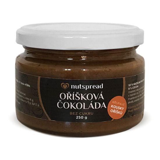 Nutspread Oříšková čokoláda - lískooříškový krém s kešu, kakaem a kousky oříšků Nutspread (Varianta 250 g )
