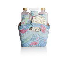 Lady Cotton Sada kosmetiky do koupele v kabelce plameňáci (Flamingos Bath Set)