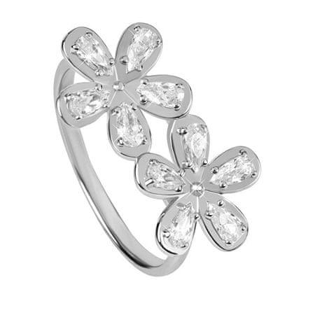 Silver Cat Piękne Srebrny pierścionek z cyrkoniami SC299 (obwód 56 mm) srebro 925/1000