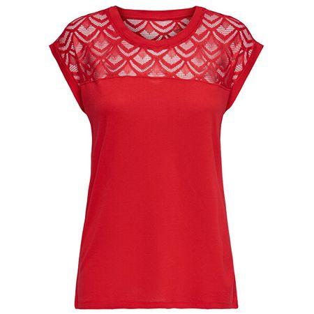 ONLY Női póló ONLNICOLE S / S TOP MIX NOOS High kockázat Red (méret S)
