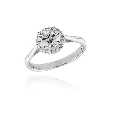 JVD Ezüst gyűrű kristályokkal SVLR0209XH2BI (Kerület 58 mm) ezüst 925/1000