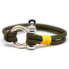 Cordell Divatos karkötő Slim N - olíva / sárga