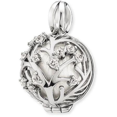 Engelsrufer Srebrny wisiorek Dzwonek anioł z białym dzwonkiem ER-20-BLOOM srebro 925/1000