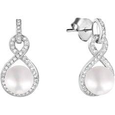JwL Luxury Pearls Błyszczące Kolczyki z perłą i cyrkoniami JL0593