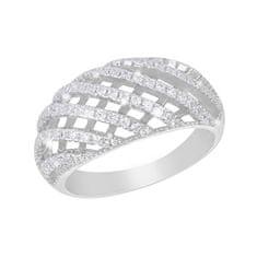 JVD Luksuzni srebrni prstan s kristali SVLSL30713A1F2 srebro 925/1000