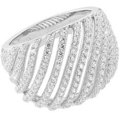 JVD Luksuzni srebrni prstan s kristali SVLML10869F7 srebro 925/1000