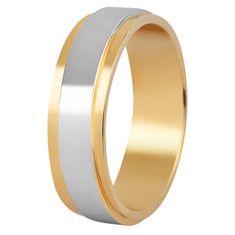 Beneto Pánský bicolor prsten z oceli SPP05