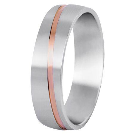 Beneto Férfi bicolor esküvői gyűrű acélból SPP07 (Kerület 70 mm)