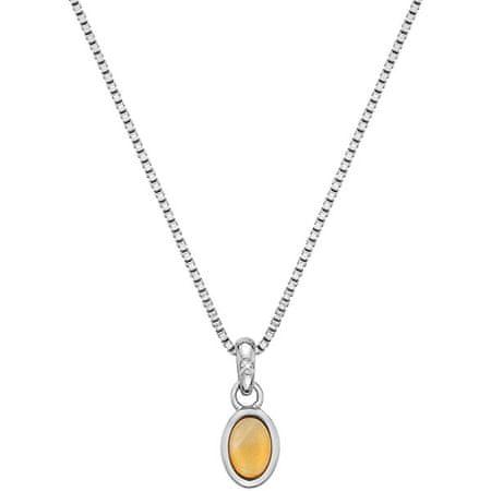 Hot Diamonds Srebrna ogrlica za rojene novembra Birthstone DP764 srebro 925/1000