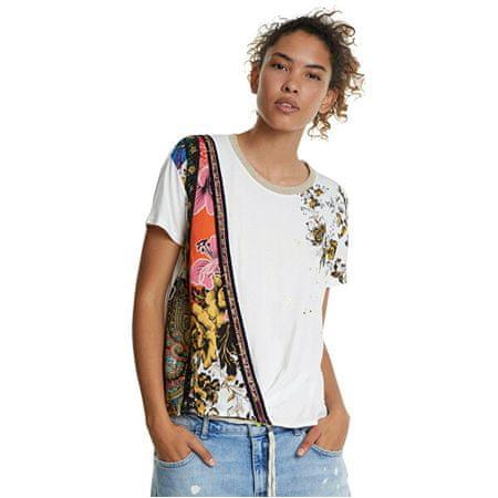 Desigual Női póló Ts Atenas Blanco 20SWTKAT 1000 (Méret L)