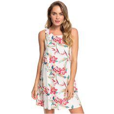 Roxy Dámské šaty Tranquility Vibes Snow White Tropic Call ERJWD03410-WBK7