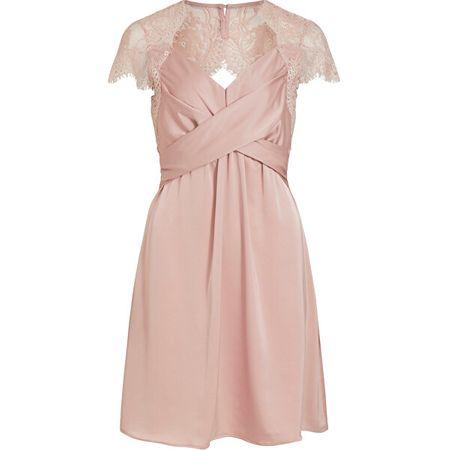 VILA Női ruha VISHEA CAPSLEEVE DRESS / DC Pale Mauve (méret 36)