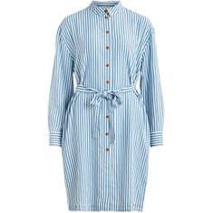 VILA Dámské šaty VISUKA L/S SHIRT DRESS /SU White Alyssum ASHLEY BLUE