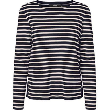 Vero Moda Ženski pulover VMSAILOR 10223724 Night Sky PRISTINE IN LAKI GOLD GUMBI (Velikost XS)