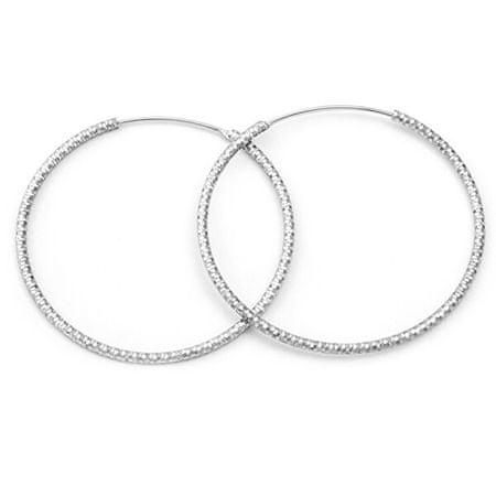 Beneto Luxus karika ezüst fülbevaló AGUC787 (átmérő 2,5 cm)