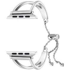 4wrist Nastavitelný ocelový tah pro Apple Watch - Stříbrný 38/40 mm