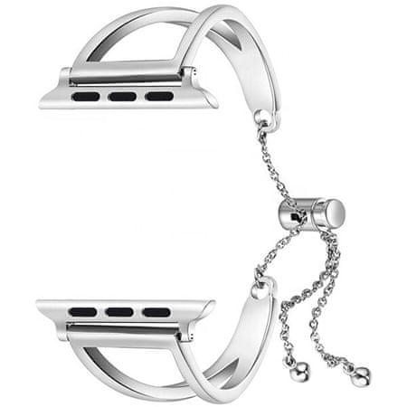 4wrist Regulowana stalowa bransoletka dla Apple Watch - Srebrny 42/44 mm