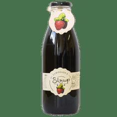 Slaskoukjidlu.cz Jahodový sirup - tekuté ovoce v lahvi
