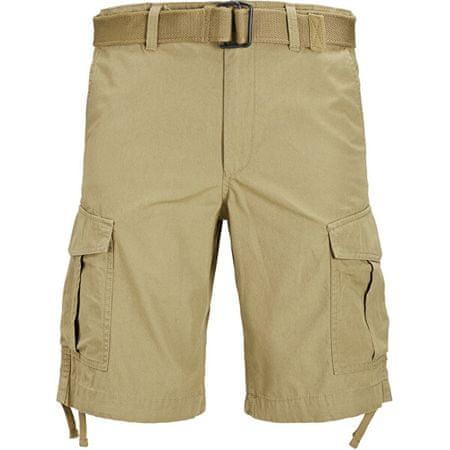 Jack&Jones Moške kratke hlače JJICHARLIE JJCARGO SHORTS AKM 803 Kelp (Velikost M)