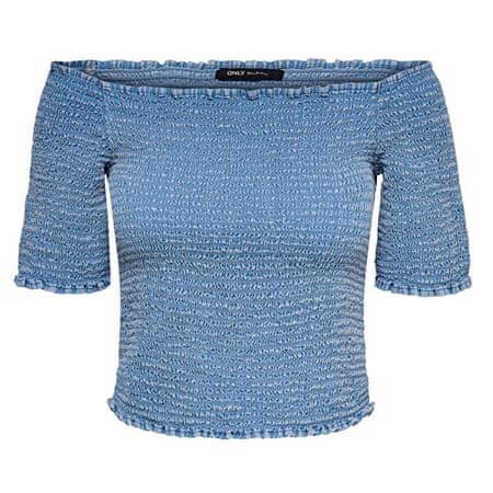 ONLY Ženska majica ONLANDREY OFF SHOULDER DNM TOP Srednje Blue Denim (Velikost 40)