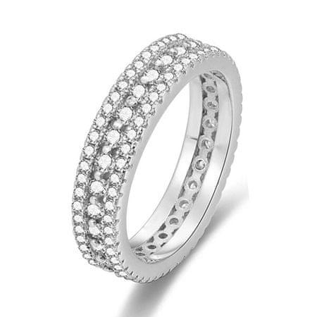 Beneto Ezüst gyűrű cirkóniákkal AGG325 (Kerület 52 mm) ezüst 925/1000
