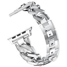 4wrist Ocelový tah pro Apple Watch - Stříbrný - 38/40 mm