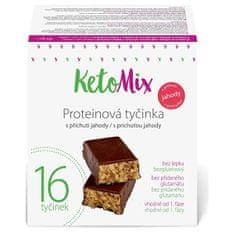 KetoMix Proteínové tyčinky s príchuťou jahody 16 x 40 g