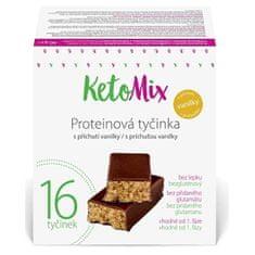 KetoMix Proteínové tyčinky s príchuťou vanilky 16 x 40 g