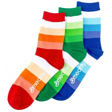 MEATFLY Zokni szett Stripes Shades socks S19 Multipack (méret 36-39)