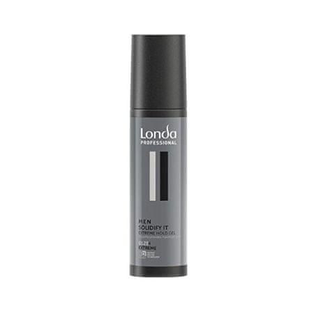 Londa Styling gel za lase z izjemno močno fiksacijo Men Solidify It ( Extreme Hold Gel) 100 ml