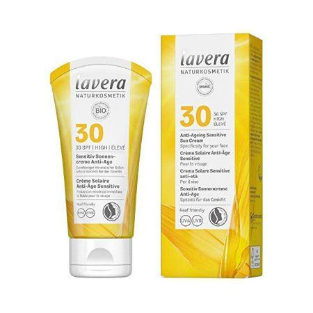 Lavera Napvédő krém Sensitiv SPF 30 (Anti-Ageing Sensitive Sun Cream) 50 ml