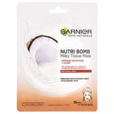 Garnier Textilná pleťová maska s kokosovým mliekom pre suchú pleť Skin Naturals (Milky Tissue Mask) 28 g