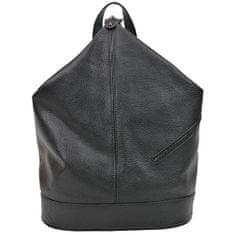 Carla Ferreri Dámský kožený batoh AW20CF1545 Nero