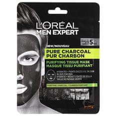 Loreal Paris Textilné maska pre mužov Men Expert Pure Charcoal (Purifying Tissue Mask) 32 g