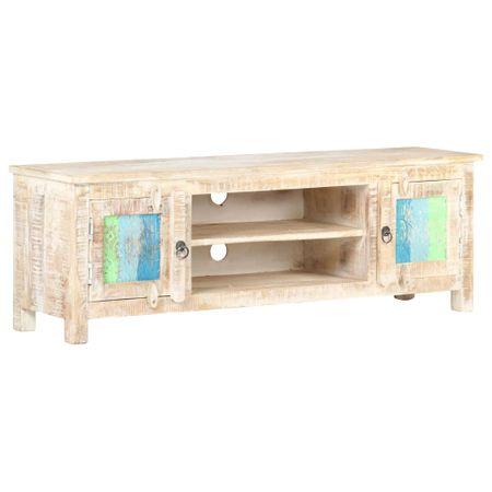 shumee Szafka pod telewizor, 120x30x40 cm, surowe drewno akacjowe