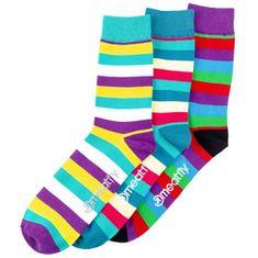 MEATFLY 3 PACK - Dark Small Stripe socks S19 Multipack - férfi zokni