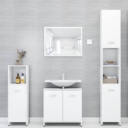 slomart Kopalniško pohištvo bele barve iverna plošča