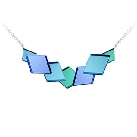 Preciosa Szokatlan acél nyakláncFragmentum kék kristállyal 7374 67