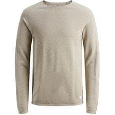 Jack&Jones Pánský svetr JJEHILL 12157321 Oatmeal Melange