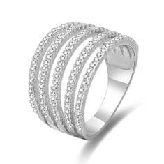 Beneto Ezüst gyűrű cirkónium kővel AGG346 ezüst 925/1000