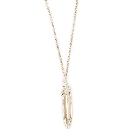 Fossil Aranyozott acél nyaklánc tollal JF03381710