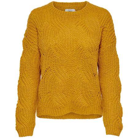 ONLY Női pulóver ONLHAVANA 15187600 Golden Yellow (méret M)