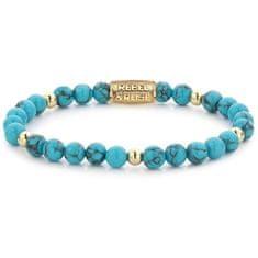 Rebel & Rose Korálkový náramek Turquoise Delight RR-60071-G