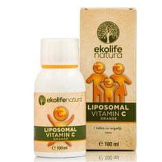 Ekolife Natura Liposomal Vitamín C 500 mg 100 ml pomaranč